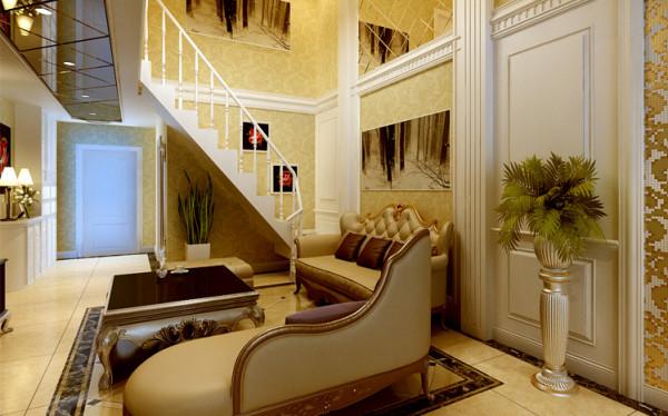 设计理念:简约欧式造型,运用淡黄色、复古枣红色等华贵色彩铺陈,在简练含蓄与奔放自由的对话中产生和谐之美,优雅中融合优质的生活态度。