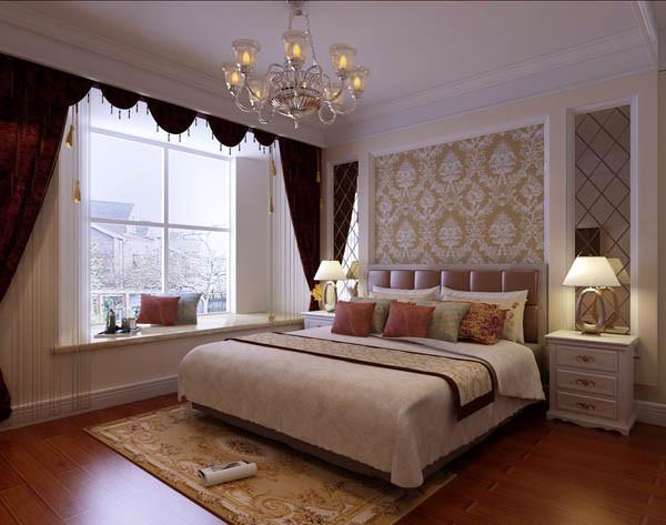 龙湖长楹天街三居室户型卧室效果图