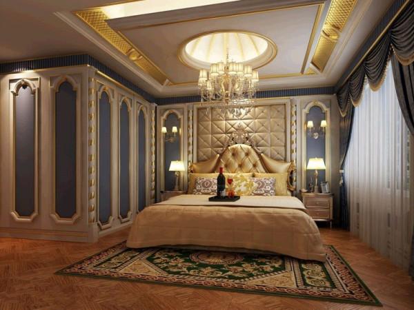 卧室的设计 体现了主人的品味 软装加石膏造型浪漫又温馨