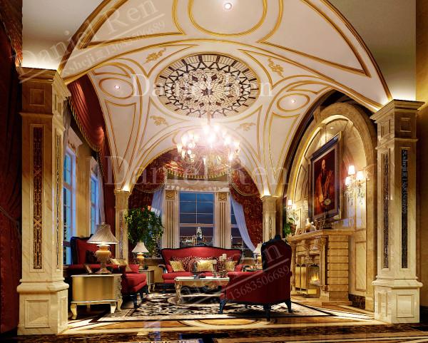 大气的客厅原创艺墅国际装饰公司中海尚湖世家别墅设计案例效果图