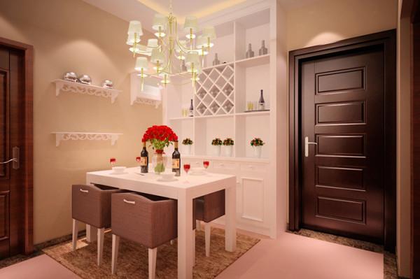 瀚海泰苑88平方两室两厅装修案例,餐厅装修效果图