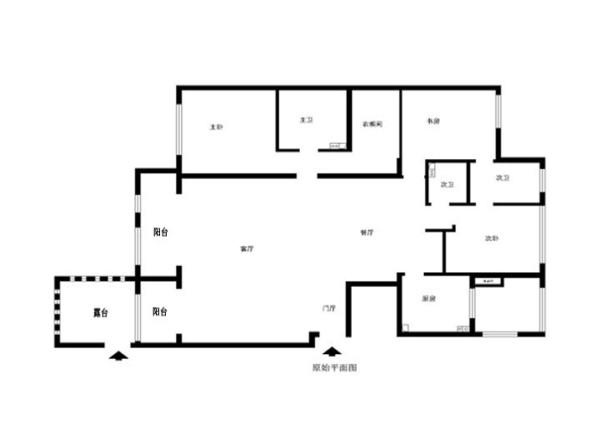 朝阳区海棠公社194平米原始户型图