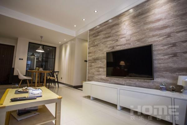 电视墙地板上墙设计。