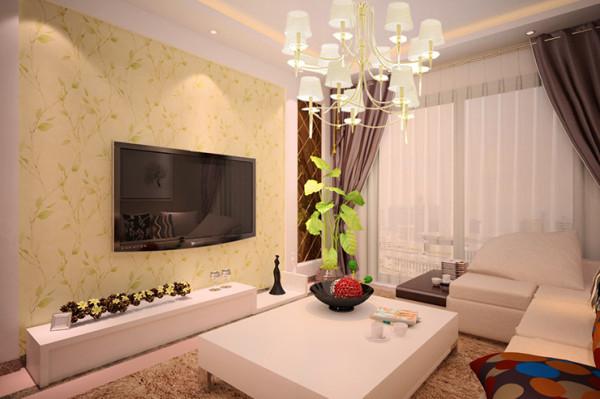 瀚海泰苑88平方两室两厅装修案例,客厅装修效果图
