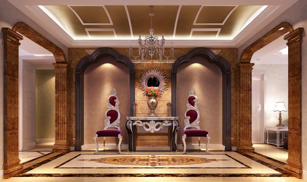 客厅餐厅,利用拉金箔,弧形的石膏线,来赢造欧式空间,又不失活跃性.图片