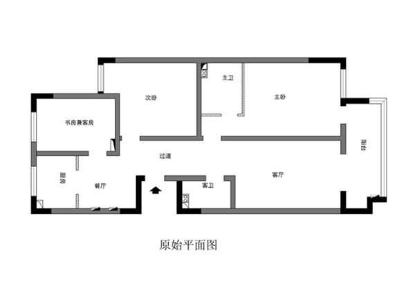 北卫家园140平米原始户型图