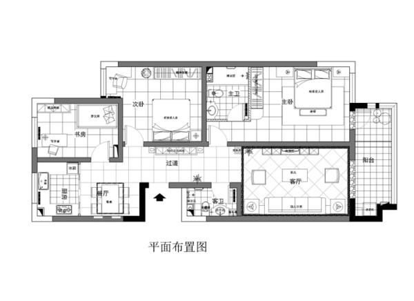 北卫家园140平米布置图
