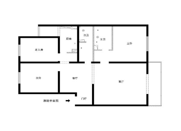 南苑北里142平米原始户型图