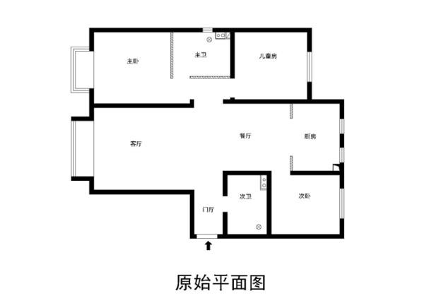 中信新城150平米原始户型图