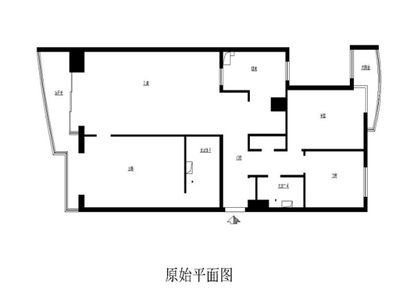 手帕口南街郎琴园140平米原始户型图