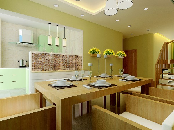 设计师使用了半开放的厨房,小吧台运用的恰到好处,增加了主人储物空间。