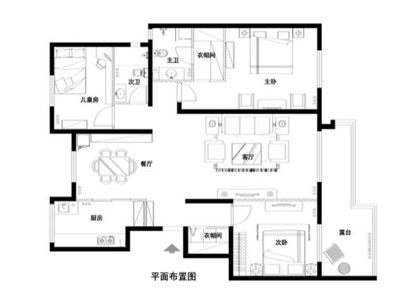 金汉绿港150平米布置图