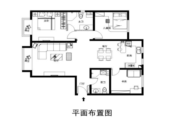 中信新城150平米布置图