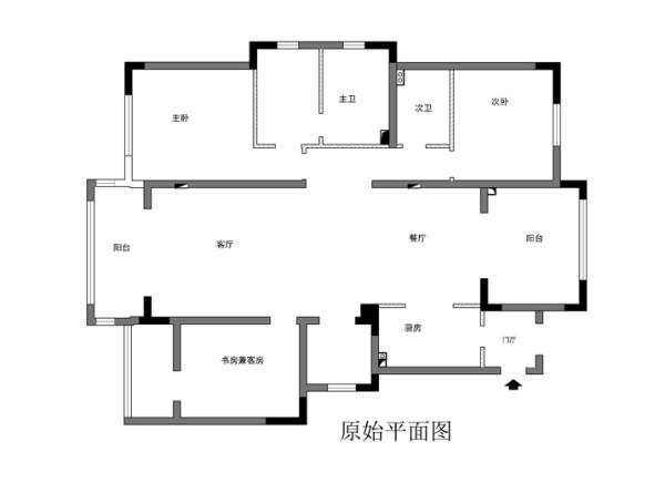 大兴区旭辉御府155平米原始户型图