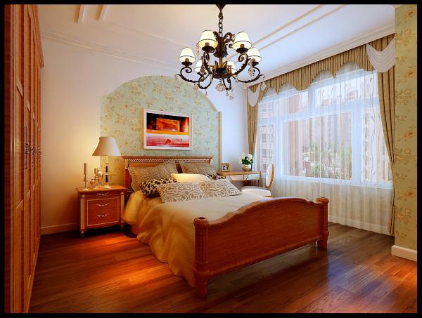 温暖舒适的墙面墙漆,配上绸缎质感的软装,使整个空间看起来清清爽爽很温馨。