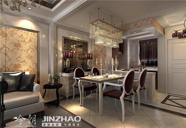 餐厅:华丽的装饰、浓烈的色彩、精美的造型达到华贵的装饰效果。