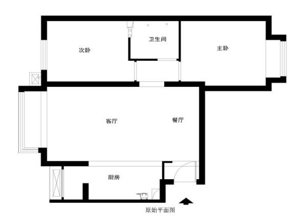 朝阳区首城国际80平米原始户型图