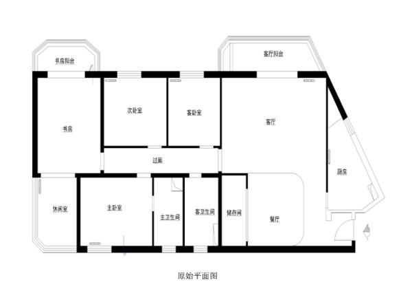 朝阳区世纪嘉园160平米原始户型图