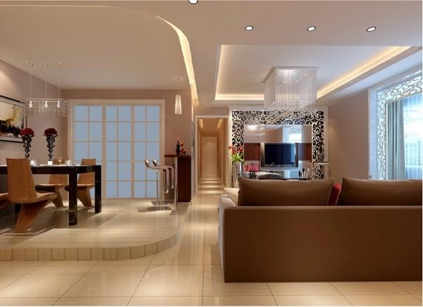 棕色酒柜不仅是业主高品质生活的体现,也使得整个空间陈设更加考究.