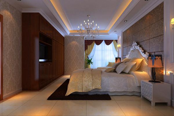 卧室背景墙采用欧式经典软包造型图片