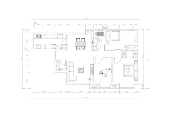 入户门右手边第一个空间是衣帽间逆时针方向第二个空间是客厅,然后是书房,其次是主卧室和主卧室衣帽间,然后是次卧室和卫生间最后是餐厅和厨房,户型整体布局合理采光良好