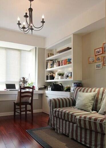 书房的格局还是比较舒服的,里面放一个沙发床,平时还可以当一个次卧。