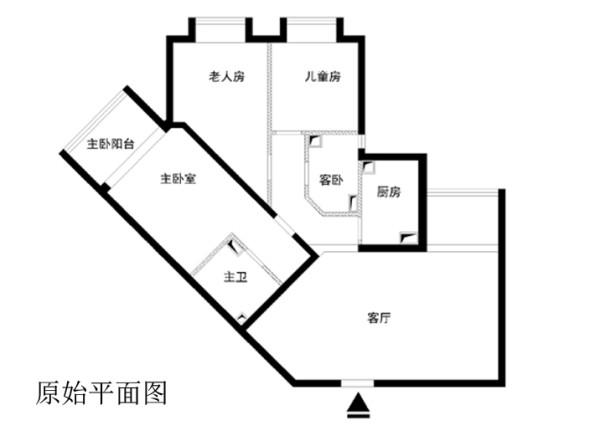东方家园小区140平米原始户型图