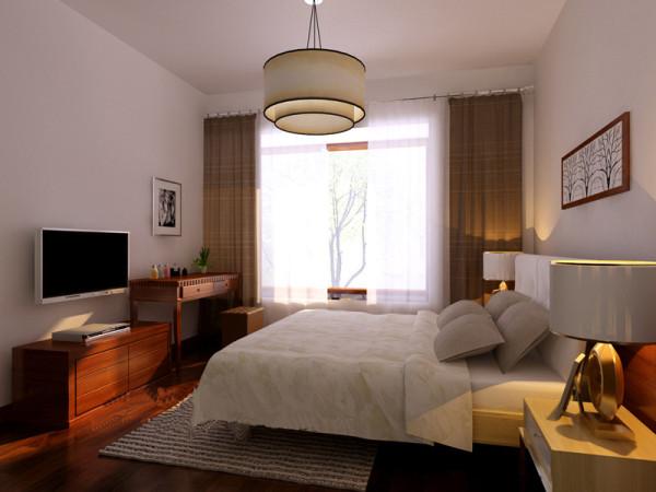 老人房的简约中带沉稳的设计,呼应整体也满足老人的喜好.