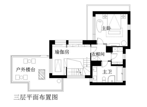 富力湾别墅429平米三层布置图