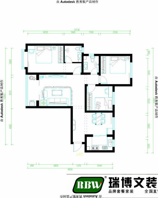 户型优点:经典三室户型,客餐厅通透宽敞,卧室分布合理,整个户型的采光效果非常好。主客卫生间,方便使用 户型缺点:回迁房,业主要求拆除原有的墙砖,拆除后还需拉毛抹灰