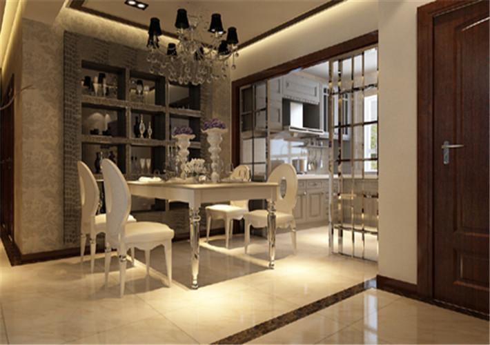 简约欧式三居白领简单大方楼房装修房屋设计餐厅图片