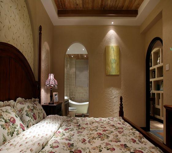 房间也充斥着田园感觉,加上地中海风格的装修给人一种处在世外桃源的感觉。