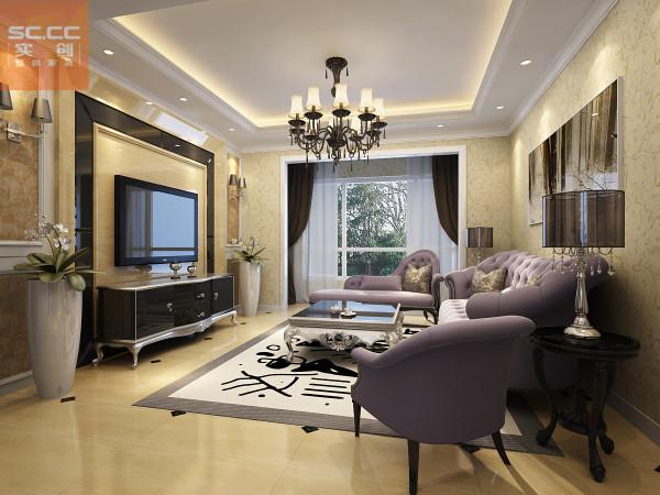 弘达明尚-119平米装修三居装修-客厅效果图