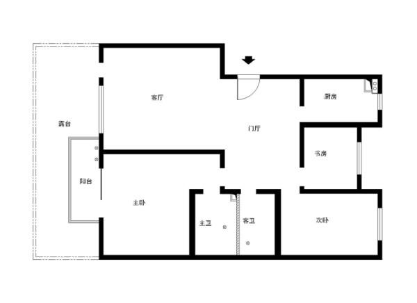 大兴区卡尔公寓小区140平米原始户型图