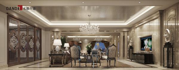 名雕丹迪别墅设计—香蜜湖九号—客厅