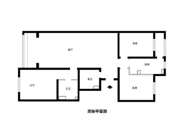丰台区恋日家园小区140平米原始户型图