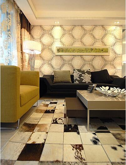 这面墙的特效是在前期就做了地基的,叫圆纹硅泥膏。