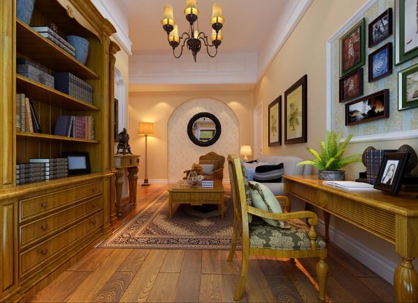 书房的功能设计简单有序,色彩多以自然色调为主,特别是在家具上的色彩选择,自然 怀旧 散发着质朴气息,极其丰富地传达着家居主人的内心,从而提升了主人的身份与品位。