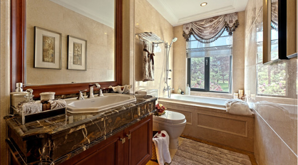 简约欧式四居装修效果图室内装修环保装修家居风水生活装修卫生间