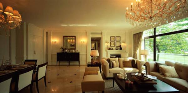 红木林71平米户型客厅效果图