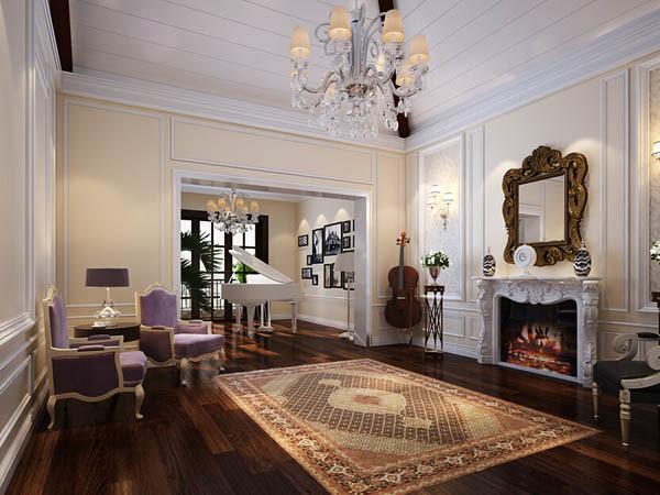 壁炉是西方文化的典型载体,选择欧式风格家装时,设计一个壁炉造型,如壁灯,在 整体明快、简约、单纯的房间空间里,传承着西方文化底韵的壁灯静静泛着影影绰绰的灯 光,朦胧、浪漫之感油然而生。