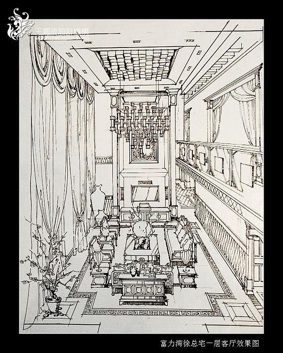 客厅手绘图展示
