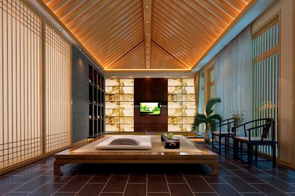设计理念: Spa会所的功能要求它的设计是宁静、悠闲、让心情自然平静下来的一个空间,这跟禅的修行也有共同之处。本案选用了东南亚风格作为设计风格的主方向。