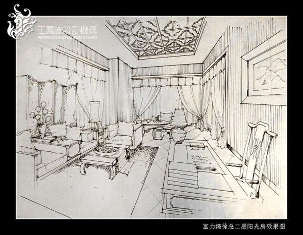 0 阳光房手绘图展示 标签:                别墅设计           复式