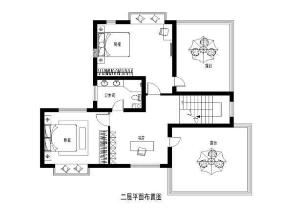 二层家具布置图
