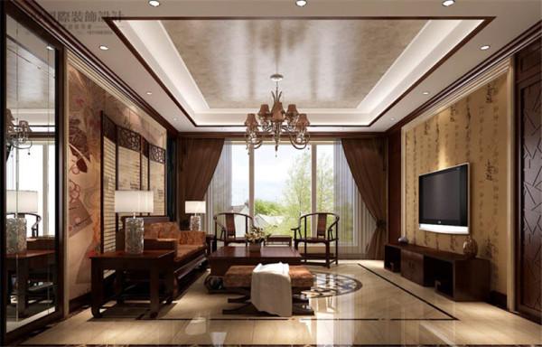 客厅让传统艺术在当今社会的到合适的体现,表达对清雅含蓄、端庄丰华的东方式精神境界的追求。