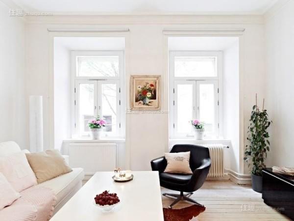 白色温馨北欧风格客厅装饰设计