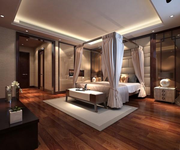 金科王府新中式风格装修案例之卧室