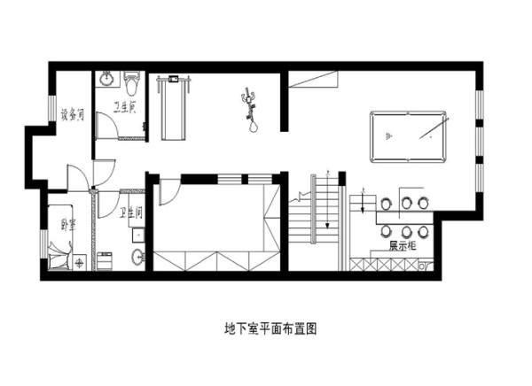 地下家具布置图