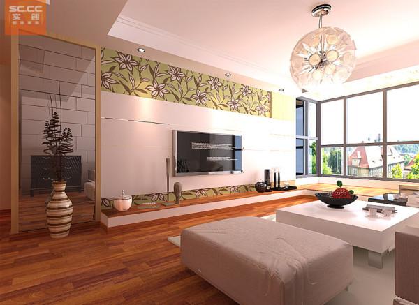 碧溪尊苑-127平米三居装修-客厅效果图